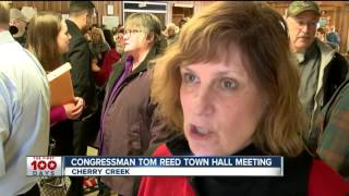 GOP Congressman Tom Reed holds town hall meetings