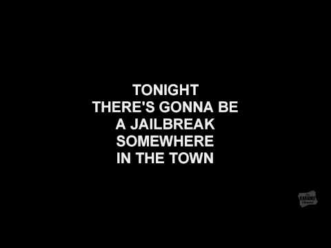 Jailbreak in the style of Thin Lizzy karaoke video with lyrics