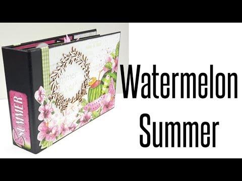 Scrapbook mini album Watermelon Summer