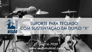Suporte para Teclado com X duplo SPT4 l - VISÃO MUSICAL