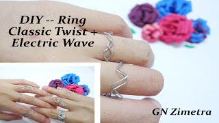DIY| 2 Easy Wİre Rings (Classic Twist + Electric Wave) @GN Zimetra