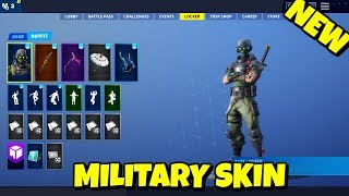NEW MILITARY 'TECH OPS' SKIN IN-GAME FORTNITE