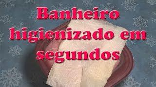 LENÇO UMEDECIDO PARA DESINFETAR E HIGIENIZAR BANHEIRO LIMPEZA DIÁRIA EM SEGUNDOS
