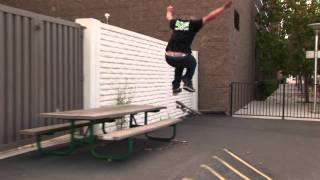 Billy Moyle frontside tailslide bigspin picnic table Braille Clip of the week 5!