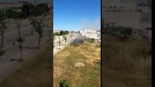 Incendio in zona Pip, a fuoco le sterpaglie