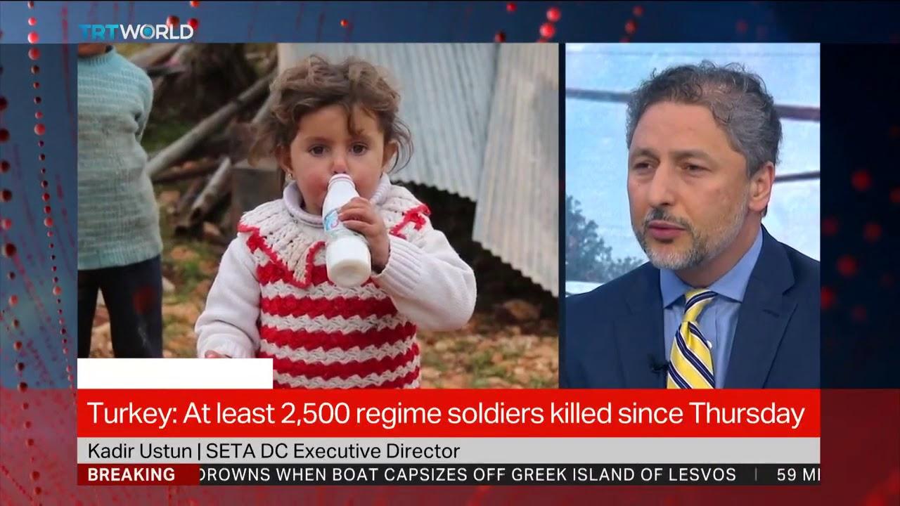 TRT World Interviews Dr. Kadir Ustun on the situation in Idlib and Turkey's Operation Spring Shield.