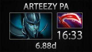 Dota 2 PA Fast Farm - Arteezy - Desolator - 16:33 [6.88d]