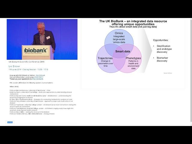 Professor Tony Whetton -   Approach to large scale multi omics in UK Biobank