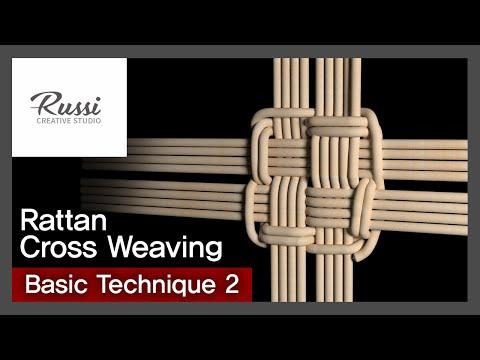 라탄 기초 #(우물정)바닥 엮기 [라탄공예] 취미 수업 온라인클래스2. :Rattan Craft : cross weaving basic technique,3D ,라탄 기법
