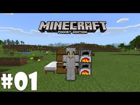 BAŞLANGICIN'DA BÖYLESİ ! #01 | Minecraft PE | Türkçe