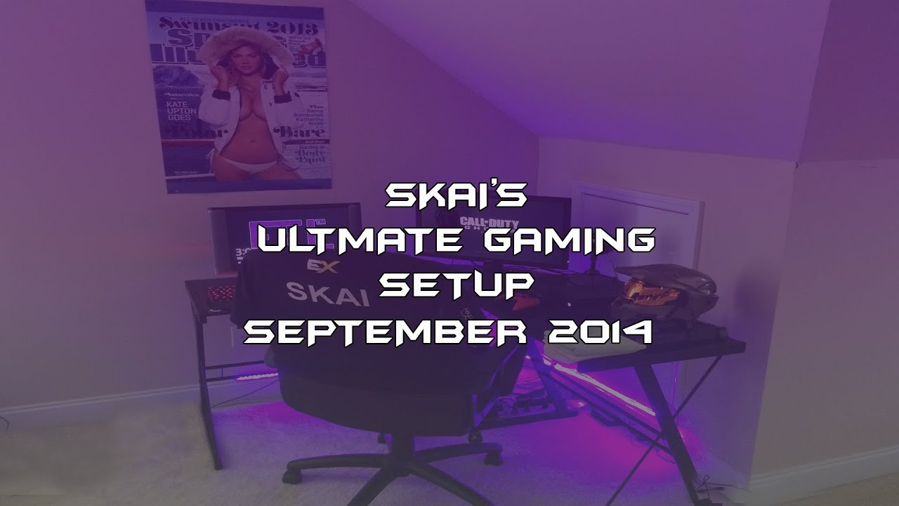 My ultimate gaming setup man cave bedroom june 2014 youtube - Ultimate Gaming Setup Tour