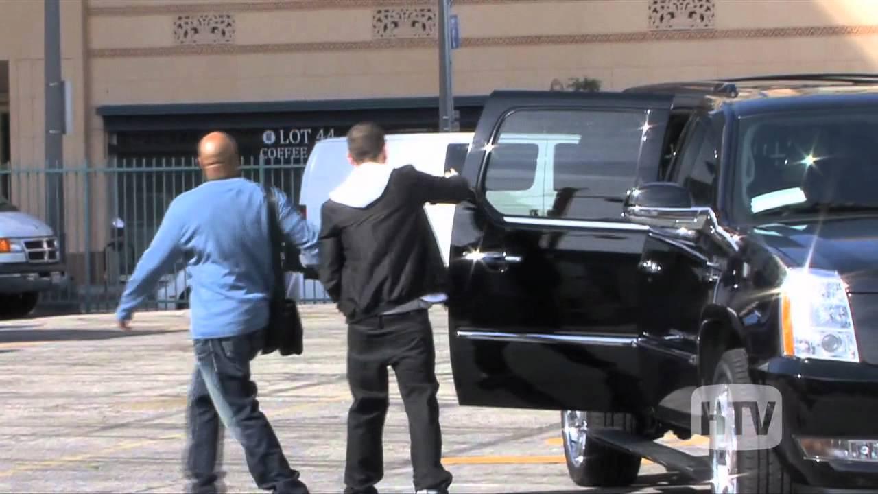 Black Escalade: Eminem Caught Leaving Downtown LA - YouTube Eminem House And Cars