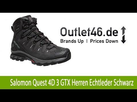 Salomon Quest 4D 3 GTX Herren Echtleder Wanderschuhe kaufen