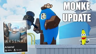 NEW Arsenal Event, MONKE GAME MODE | ROBLOX screenshot 4