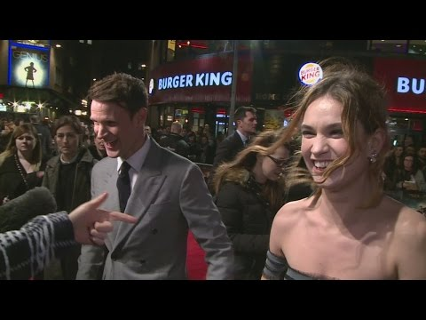 CUTE: Lily James gets flirty with boyfriend Matt Smith at Pride and Prejudice and Zombies premiere