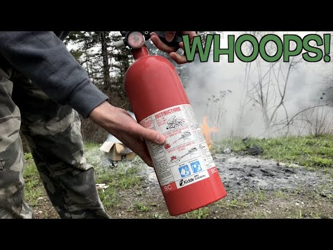 I Used The WRONG Fire Extinguisher