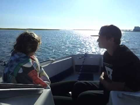 Boat ride out to absecon inlet for flounder fishin