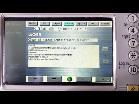 How to reset in Canon imageRUNNER System Manager ID, Password, Counters, Errors. Service Mode