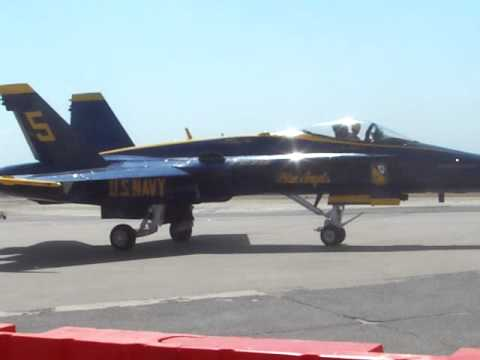 Blue Angels - taxing  at the Air Power Airshow In Fort Worth 2011
