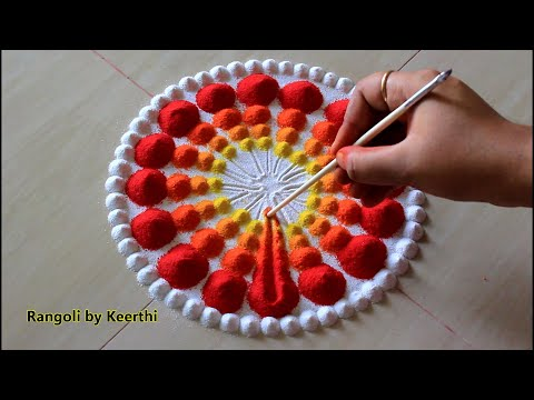 New Year Special Rangoli Design L Rangoli Designs With Colours L Rangoli By Keerthi L  रंगोली रचना