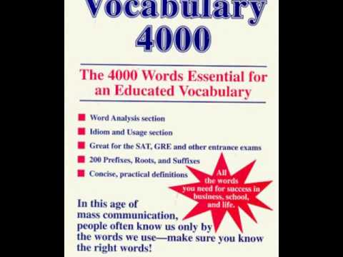 English Vocabulary of 4999 words Vol.1 (use cc to translate captions to difference language)