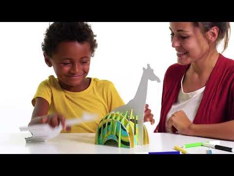 Set Creativ Create & Color Carioca Girafă 3D
