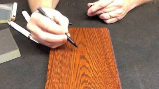 Graining Pen On Wood Grain By Finish Repair 2012.mp4