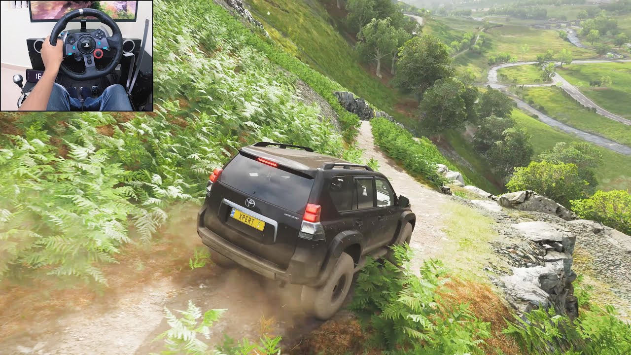 Toyota Land Cruiser Prado | Realistic offroading - Forza Horizon 4 | Logitech g29 gameplay thumbnail