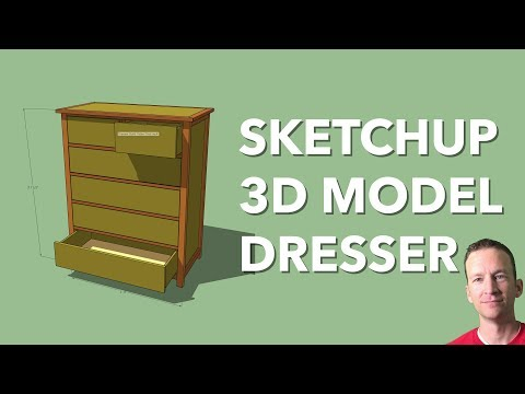 sketchup-woodworking-tutorial- -full-dresser-3d-model