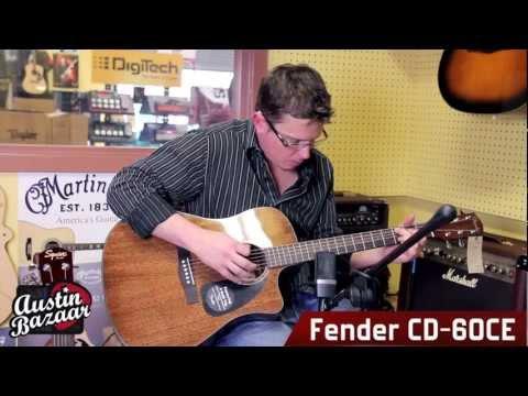 Fender CD-60CE Acoustic-Electric Cutaway Guitar