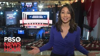 WATCH: A behind the scenes tour of the PBS NewsHour/POLITICO Democratic Debate