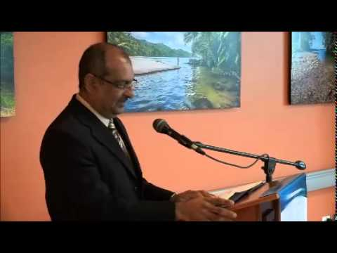 Health Minister Fuad Khan delivers Keys @ Teaching Hospital, San Fernando , Aug. 11. 2015 - Trinidad