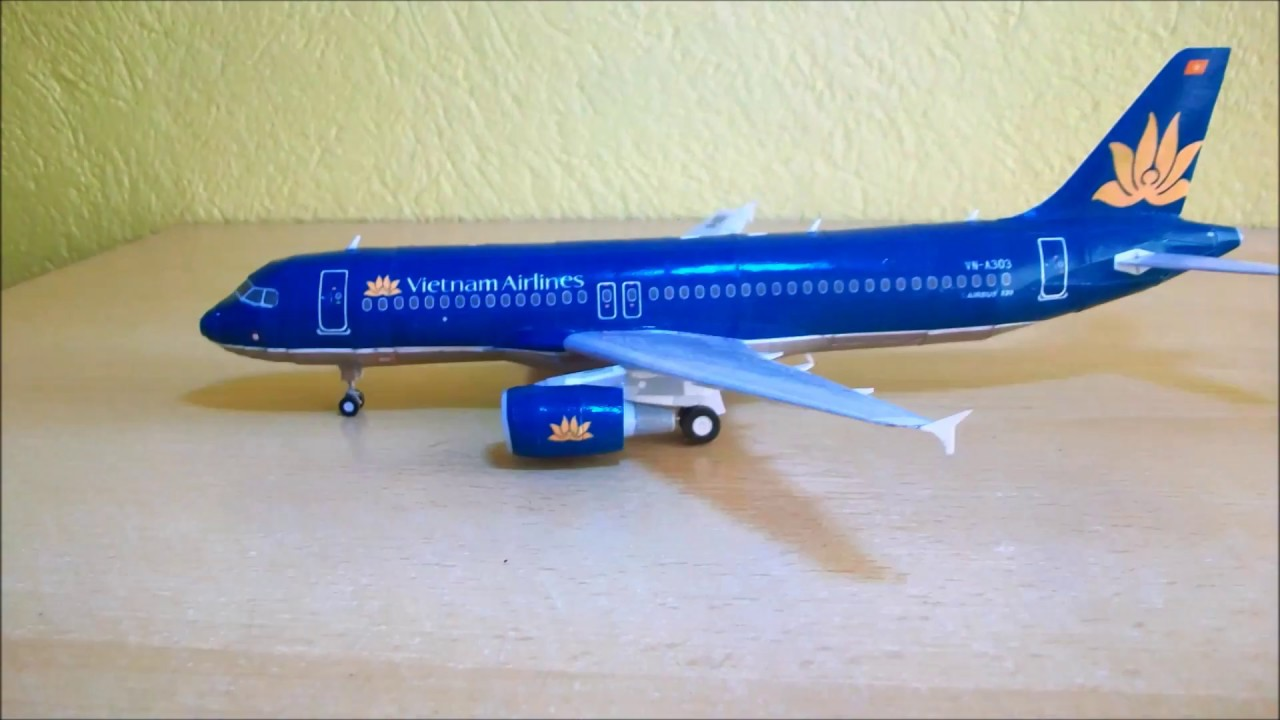 Vietnam Airlines Airbus A320 Papercraft 1 120 Youtube