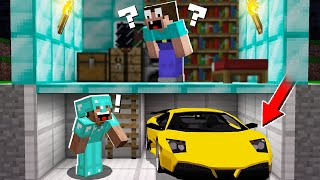 Download WHY PRO HIDE CAR in the BASEMENT? in Minecraft Noob vs Pro Mp3 and Videos