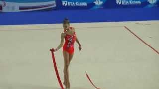 Солдатова Александра,лента Первенство России по гимнастике г.Казань 2014