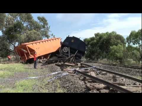 Train Derailment: El Zorro Grain at Donald  Sat 24/12/11