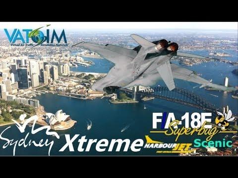 "Sydney Harbour ""Xtreme"" Scenic flight VRS Superbug F/A-18"