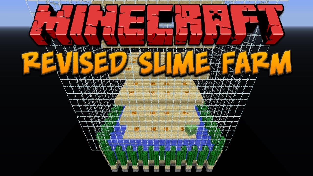 Minecraft Revised Chunk Based Slime Farm Youtube
