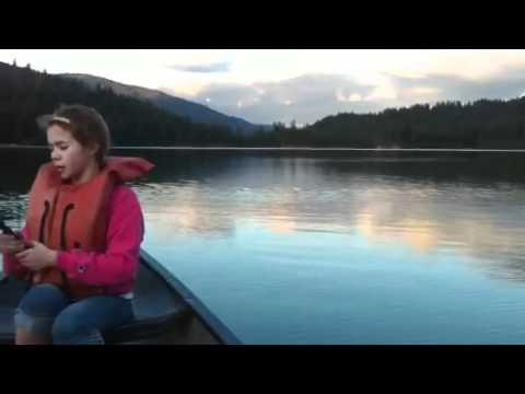 Alexis fishing at clear lake wa youtube for Clear lake oregon fishing