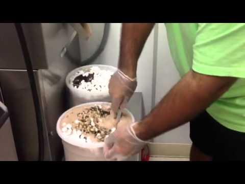 Making Rocky Road Ice Cream