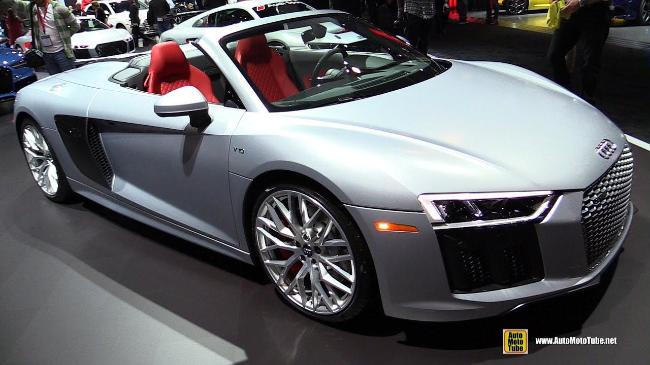 2017 audi r8 v10 spyder exterior and interior walkaround. Black Bedroom Furniture Sets. Home Design Ideas