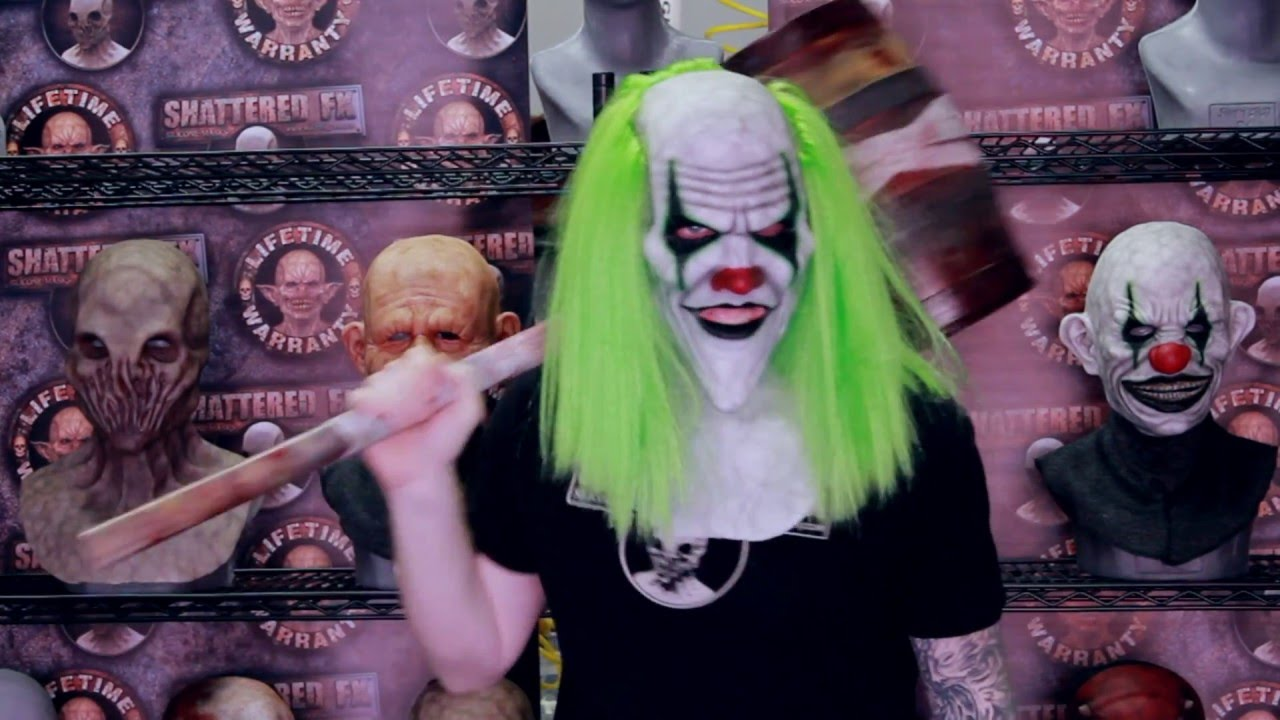sinister the clown silicone mask movement video by shattered fx