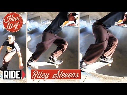 How-To Skateboarding: Backside Tailslide Revert with Riley Stevens