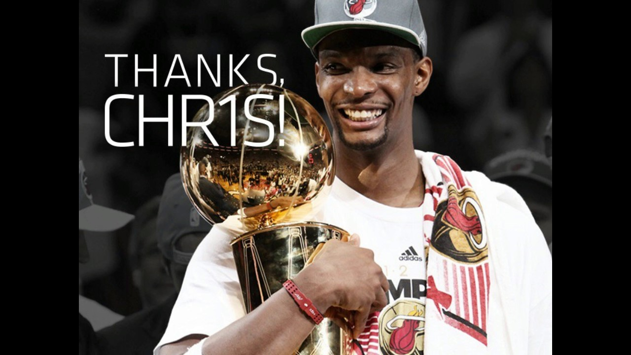 c7ef09bc3 Chris Bosh waived by Miami Heat and his number is retired - YouTube
