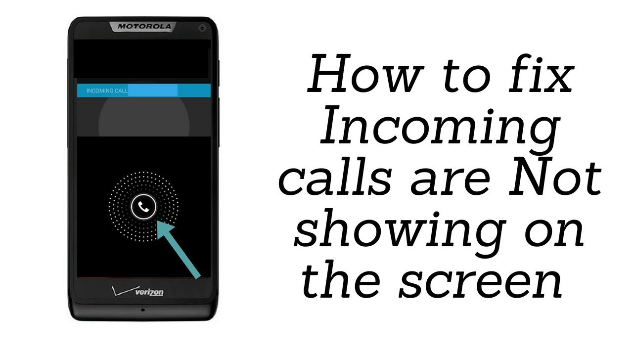 Incoming calls are Not showing on the screen but phone is ringing !! How to  Solve ?