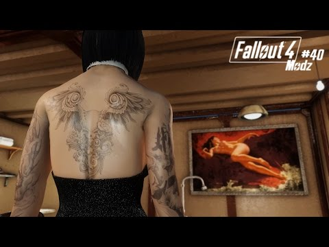 Fallout 4 Modz #40: Red's Reworks - Body Tattoos CBBE & Pinups of the Wasteland