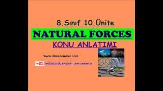 LGS İngilizce 8. Sınıf 10. Ünite Natural Forces Konu Anlatımı