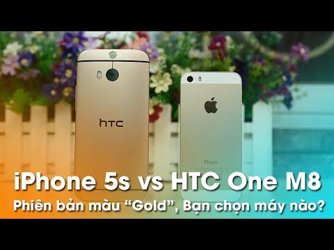 iPhone 5s Gold và HTC One M8 Gold: bạn chọn máy nào?