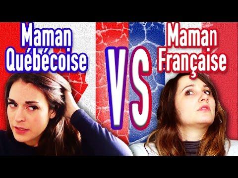 Maman Française VS Maman Québécoise  - ANGIE LA CRAZY SÉRIE