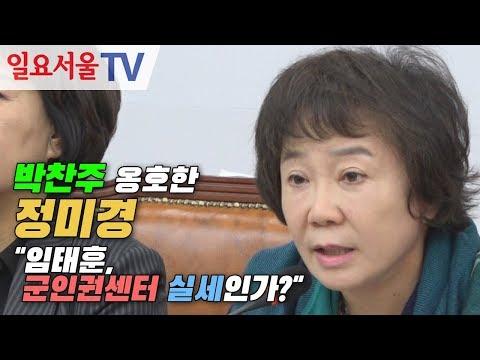 """박찬주 옹호한 정미경 """"임태훈, 군인권센터 실세인가?"""""""